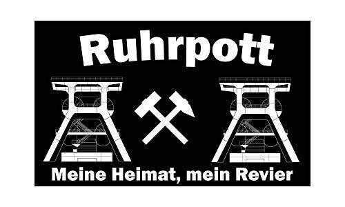 Fahnen-Flaggen Ruhrpott - Meine Heimat, Mein Revier 90x150cm (F68)