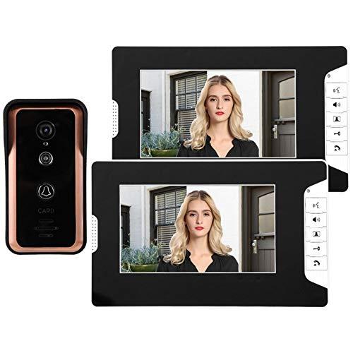7in 2V1 supervisa el intercomunicador de video con videoportero con cable,(British regulations (100-240V))