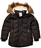 Weatherproof Girls' Toddler Fashion Outerwear Jacket (More Styles Available), Long Puffer Black, 4T