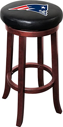 Imperial Officially Licensed NFL Furniture: Wooden Bar Stool, New England Patriots
