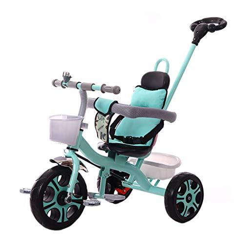 NBgy 3-wieler, 3-in-1 multifunctioneel driewieler met duwstang, 2-6 jaar, baby kinderwagen, dubbele rem, schuimwiel, 3 kleuren