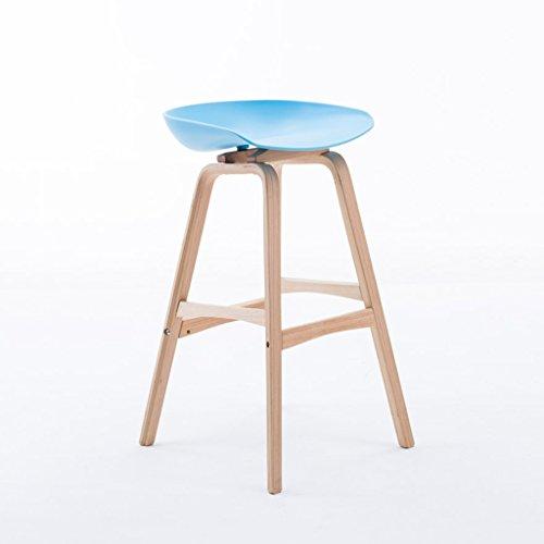 ZPWSNH barkruk massief houten kruk poten barstoel multicolor keuken cafe bar 49x45x85cm barkruk