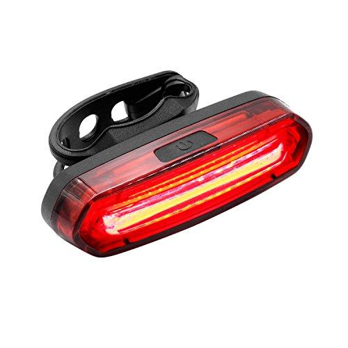 Feu arrière de Vélo, Keten Feux de vélo Rechargeable LED USB imperméable à l'eau, rouge, bleu s/n des feux arrière LED vélo avec 6 Modes d'éclairage pour le Cyclisme pendant la Nuit