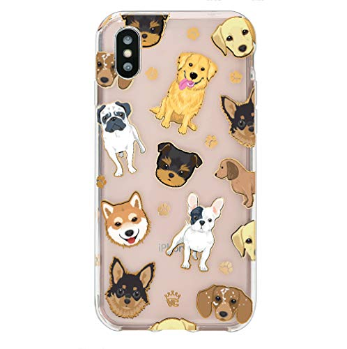Velvet Caviar Compatible with iPhone Xs Case & iPhone X Case Dog for Women & Girls - Cute Clear Protective Phone Cases (Pug, French Bulldog, Golden, Yorkie)