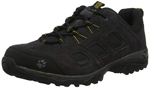 Jack Wolfskin Herren Vojo Hike 2 Low M Walking-Schuh, Black/Burly Yellow Xt, 44.5 EU