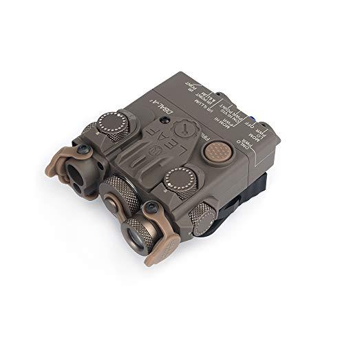 WADSN DBAL-A2 Dummy-Attrappe, Nylon, Kunststoff, weißes Licht und Stroboskop, DBAL A2, PEQ-Box mit QD-Halterung für 20 mm Schiene (Dark Earth)