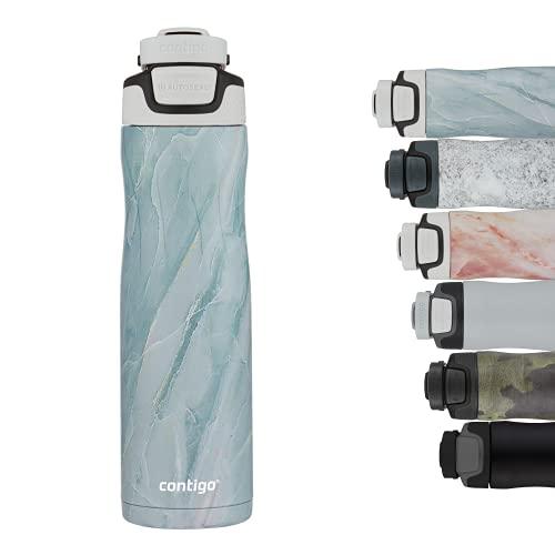 Contigo Trinkflasche Autoseal Couture, Edelstahl Wasserflasche mit Autoseal Technologie, 100% auslaufsicher, Isolierflasche hält Getränke bis zu 28 Stunden kalt, BPA-frei, 720 ml, Amazonite