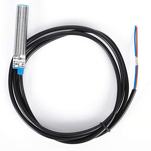 Sensor inductivo del interruptor de proximidad GHG12-10A, carcasa magnética pequeña de metal magnético DC 0-35V normalmente abierto, distancia de detección de 10 mm, para circuito protección