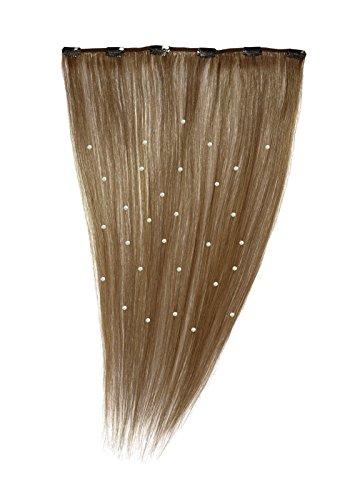American Dream - A19/QFC12/18/6B - 100 % Cheveux Naturels - Pièce Unique Extensions Cristallisées à Clipper - Couleur 6B - Brun Doré Léger - 46 cm