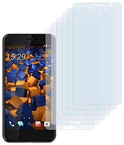mumbi Schutzfolie kompatibel mit HTC U11 Folie klar, Bildschirmschutzfolie (6x)