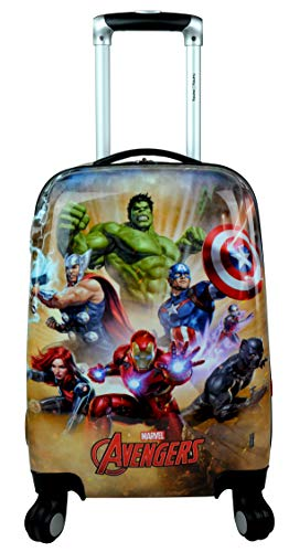 Humty Dumty Disney Avengers Group Green Polycarbonate 18 Inch/45.7 cm Kid's Hard Luggage Trolley Bag