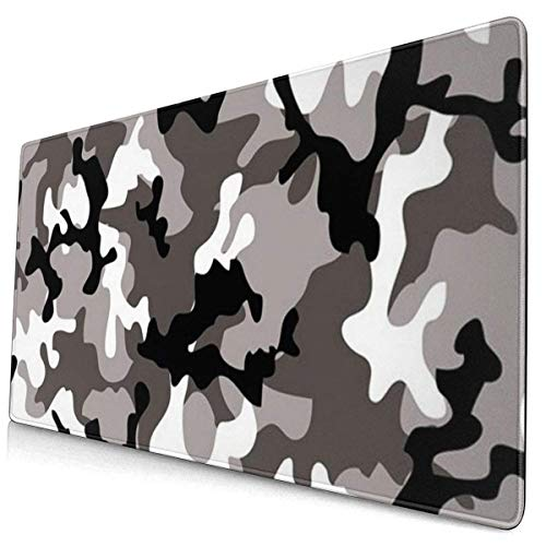 Custom Colourful Mouse Pad Black Grey White Camo Desk Pad Mouse Mat Protector Large Gaming Keyboard Mat Large Mousepad Non Slip Rubber Base
