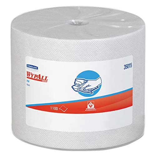 Wypall X50 Disposable Cloths (35015), Strong for Extended Use, Jumbo Roll, White, 1,100 Sheets / Roll