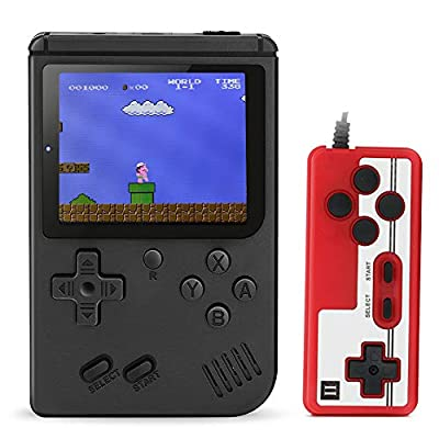 Aibrisk Handheld Game Console, Retro Mini Game Player with 520 Classical Games, Connecting TV, Two Players, 3 Inch Screen 800mAh Rechargeable Battery, Birthday Xmas Gift for Kids from Aibrisk