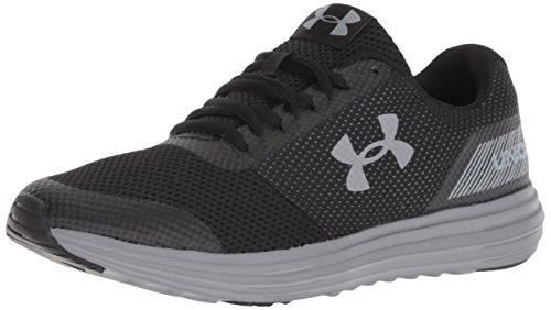 Under Armour Women's Surge Running Shoe, Black (004)/Black, 8