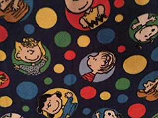 Country Snuggles Peanuts Fleece Fabric by The Yard (Full Yard)