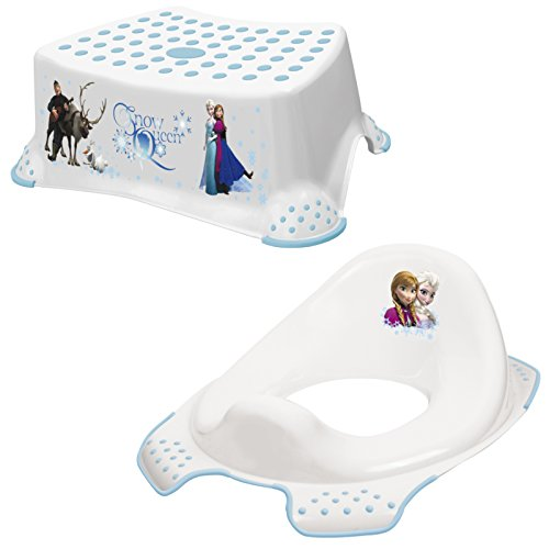 Keeeper 2-teiliges Set FROZEN Schemel einstufig & WC-Sitz / Toilettensitz weiß