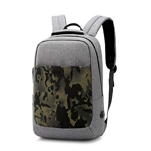HONG-YANG Business-Gepäck Bookbag Travel Einbruchsicherer Rucksack Charging Herrenmode Umhängetasche Leisure Computer Bag (Color : Gray)
