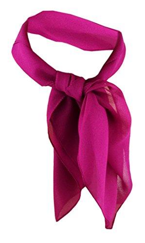 TigerTie Damen Chiffon Nickituch magenta Gr. 50 cm x 50 cm - Tuch Halstuch Schal
