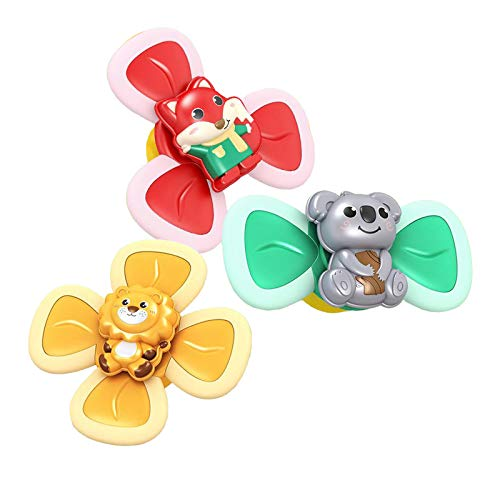 lahomia 3PCS Suction Cup Spinning Top Classic Toy Table Sucker Game Traditional Intelligence Development Baby Teeth Toys para Kids Birthday Gifts