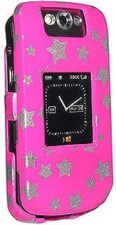 Amzer Snap-On Crystal Hard Case for BlackBerry Pearl Flip 8220/8230 - Stars Pink