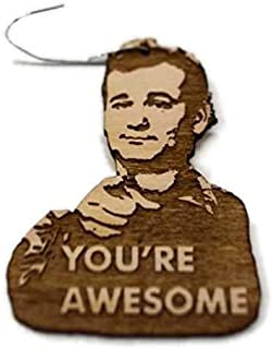 You're Awesome Christmas Ornament | You're Awesome Rear View Mirror Hanger | Hand-Made Wooden Holiday Gift