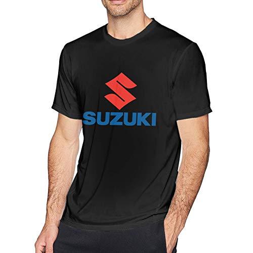 ZMEKUUI Suzuki Moto Logo T-Shirt da Uomo a Manica Corta in Cotone Girocollo T-Shirt Comoda ed Elegante