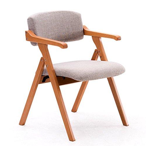 Chaise de salle à manger en bois massif chaise pliante de bureau élégant simple créatif avec fauteuil chaise décontractée en tissu confort doux et sédentaire n'est pas fatigué