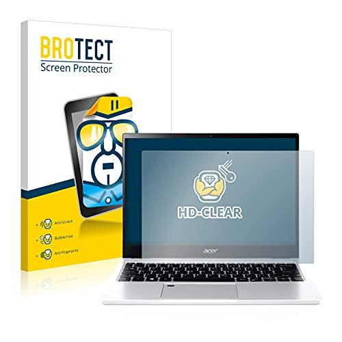 BROTECT Schutzfolie kompatibel mit Acer Spin 3 SP313-51N klare Bildschirmschutz-Folie