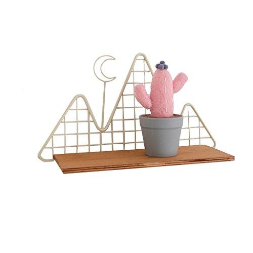 HSHELF-Meubles Étagères murales multifonctionnelle Loft DIY Tablette murale | Creative Nordic Style étagères murales étagère de rangement partition cadre d'angle décoratif présentoir | Supports de Res