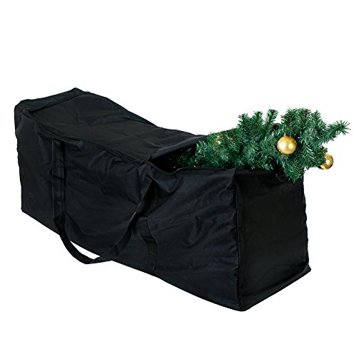 BRAMBLE! Bolsa de Almacenamiento de Tela Grande para Árbol de Navidad y Adorno Decoraciones - Super Resistente, Anti-UV & Impermeable| para Árboles de Navidad hasta 4,7 M (9Ft)| 135 x 38 x 54 cm.