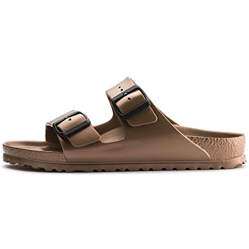 Birkenstock Arizona Eva, Sandali a Punta Aperta Donna, Marrone (Metallic Copper Metallic Copper), 37 EU