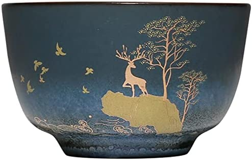 HG729 80ML Ceramic Japanese-Style Japan's Max 81% OFF largest assortment Sika F Kung Deer Retro Teacups