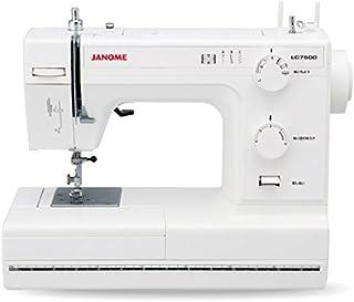 JANOME ジャノメ レザークラフト対応 パワフル 電動ミシン LC7500 レザー針 レザー押さえ 標準装備 LC-7500 ホワイト