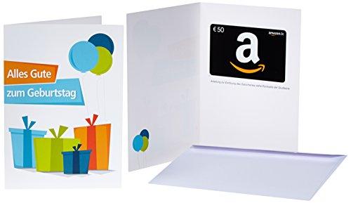 Amazon.de Geschenkkarte in Grußkarte - 50 EUR (Geburtstagsgeschenke)