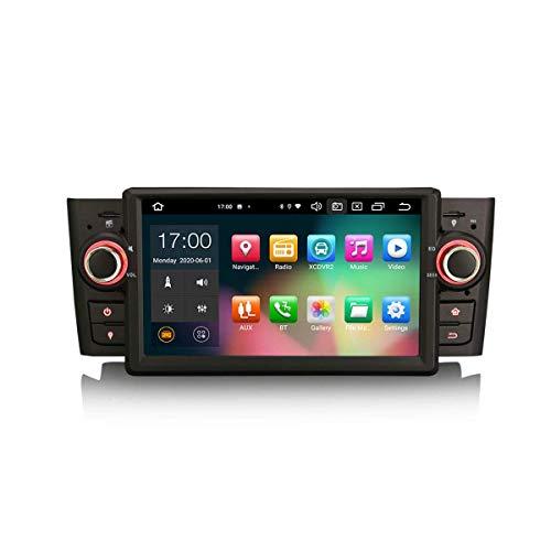 Car Navigator 7 Pulgadas Android 10.0 Car Stereo para FIAT Punto Linea Soporte GPS Sat Nav Carplay Android Auto DSP Bluetooth WiFi 4G Dab + TPMS 8-Core 4GB RAM + 64GB ROM