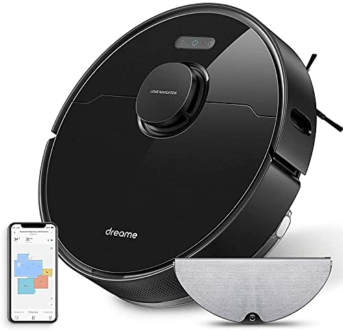Dreame L10 PRO Robot Aspirapolvere, Aspirazione Potente 4000 Pa, Alexa, Wi-Fi, Autonomia di 150 min, Mappatura Multi Piano Laser Scopa Elettrica Che Aspira e Lava per Peli di Animali, Pavimenti