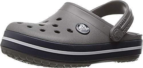 Crocs Kids' Crocband Clog, Smoke/Navy, 7 M US Children