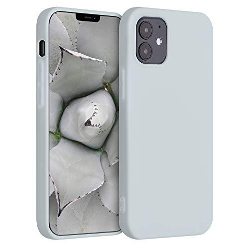 kwmobile Cover Compatibile con Apple iPhone 12 - Custodia in Silicone TPU - Backcover Protezione Posteriore- Grigio Chiaro Opaco
