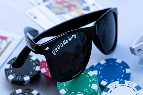 POLARIZED Bachelor or Bachelorette Party Sunglasses Complete Set of Wedding Supplies Groom, Best Man, Groomsman