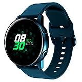 SUNDAREE Compatible con Correa Galaxy Watch Active 2,20MM Silicona Reemplazo Correas Pulseras de Reloj Inteligente para Samsung Galaxy Watch Active/Active2 40MM 44MM/Huawei Watch GT2 42MM(Green 20)