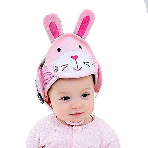 Jzhen Casco Protector de Cabeza de Bebé Casco de Seguridad para Bebé Gorra Protectora para Cabeza de bebé, Gorra de algodón Ajustable