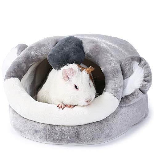JanYoo Kleintierhöhle für Chinchilla, Igel, Meerschweinchen, Käfigzubehör, Spielzeug, für Bartagame, Hamster, Frettchen, Ratte