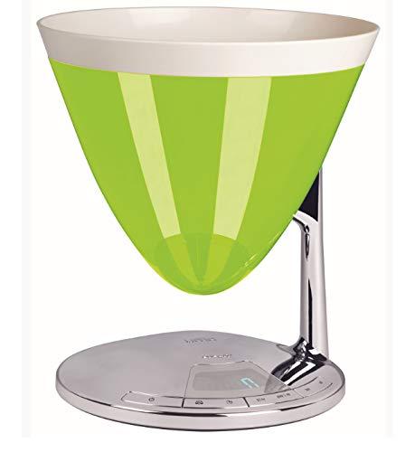 BUGATTI, Uma, Bilancia da Cucina Digitale con Timer, Display Elettronico, Ciotola Pesa Alimenti rimovibile, Portata massima 3kg, Design elegante (Verde Mela)