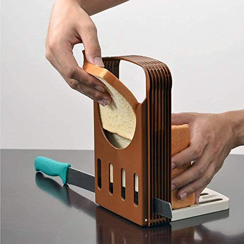 Bread Slicer, Bread/Bread Slicer Cutter, Compact Foldable Bread Sandwich Toast Bread Slicer(1PACK)