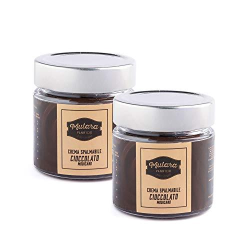 Crema al cioccolato di modica artigianale spalmabile set 2 pezzi da 200g. Crema al cioccolato di Modica artigianale IGP. 100% Made in Sicily. Cremosa ideale per la prima colazione