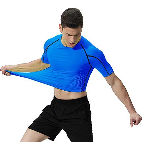 OXENSPORT Funktionsshirt Herren, Kompressionsshirt Fitness Kurzarm, Laufshirt Männer, Sportshirts Atmungsaktiv - 4