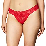 Maidenform Women's Comfort Devotion Lace Thong, Camera Red, 5