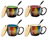 Taza de café espresso, taza de viaje, taza de la taza de cristal, taza de té de China, taza de café, taza de café, taza de té, taza de café, taza de cerámica, taza de taza de taza de café con color, 3