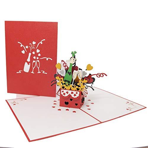 Favour Pop Up biglietto di auguri per compleanno, matrimonio o anniversario, ideale anche come regalo di denaro o buono. TL077